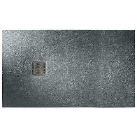Plato de ducha Roca Terran extraplano de STONEX® 1400x800mm Pizarra