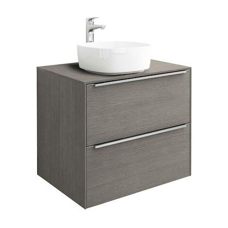 Mueble base Roca Inspira para lavabo sobre encimera 600x498x554mm Roble City