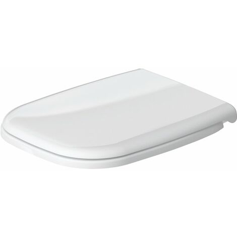 Duravit D Code lunette de WC avec fermeture amortie Blanc - blanc