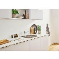 Grohe Eurosmart Robinet de cuisine avec bec bas et mousseur extractible Dual Spray avec limiteur de température intégré chrome - Chrome