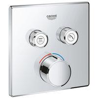Grohe Smartcontrol Partie de finition pour robinet de douche encastrable avec inverseur 2 voies carré chrome - Chrome
