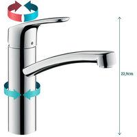 Hansgrohe Focus E2 Robinet de cuisine avec bec tournant chrome - chrome