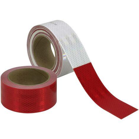 Ruban réfléchissant 3M 983326 réfléchissant, microprismatique rouge, blanc (L x l) 45.7 m x 50.8 mm 45.7 m