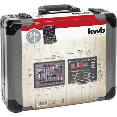 Mallette à outils équipée kwb 370740 51 pièces 1 pc(s)