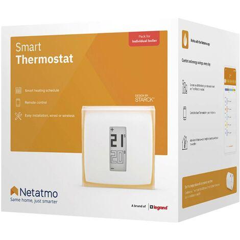 Thermostat sans fil connecté WIFI Netatmo NTH01-DE-EC 7 à 30 °C