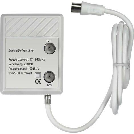 Amplificateur TV Renkforce RF-4318094 2 voies 20 dB 1 pc(s)