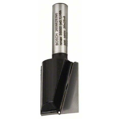 Fraise à rainurer 8 mm, D1 20 mm, L 25 mm, G 56 mm Bosch 2608628390