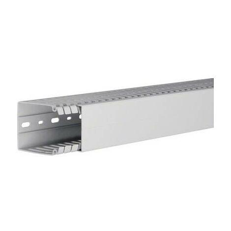Goulotte de câblage Hager HA780060 (L x l x h) 2000 x 60 x 80 mm 1 pc(s) gris clair (métallisé)