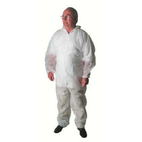 Ampri 8000103 Combinaisons de protection MED Comfort PP XXL+cagoule blanc Taille=XXL blanc