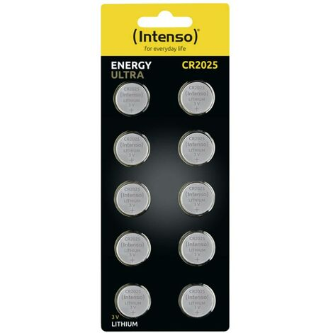 Pile bouton lithium CR 2025 Intenso Energy Ultra 7502420 160 mAh 3 V 10 pc(s)