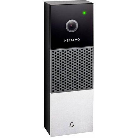 Interphone vidéo IP Netatmo NDB-DE Wi-Fi Set complet 1 foyer noir, argent 1 pc(s)