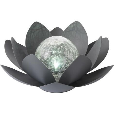 Sygonix Lampe de jardin LED SY-4673700 LED 0.02 W blanc froid noir
