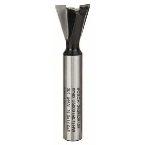Fraise à queue daronde, 8 mm, D1 14,3 mm, L 12,7 mm, G 48 mm, 14° Bosch 2608628408