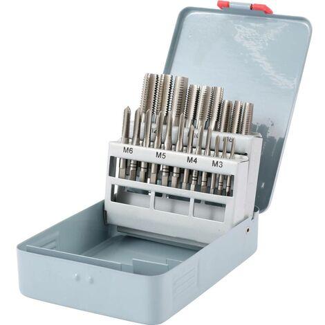 TOOLCRAFT 2266929 Kit de taraudage 21 pièces M3, M4, M5, M6, M8, M10, M12 DIN 352 HSS 1 pc(s)