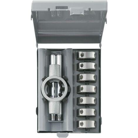 Set de 8 filières HSSG M3 - M12 DIN 223B TOOLCRAFT 821397 métrique M3, M4, M5, M8, M6, M12, M10 8 pièces