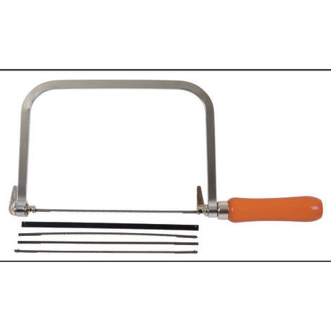 Scie à chantourner avec 3 lames pour bois et 2 lames pour le métal CK AV09030