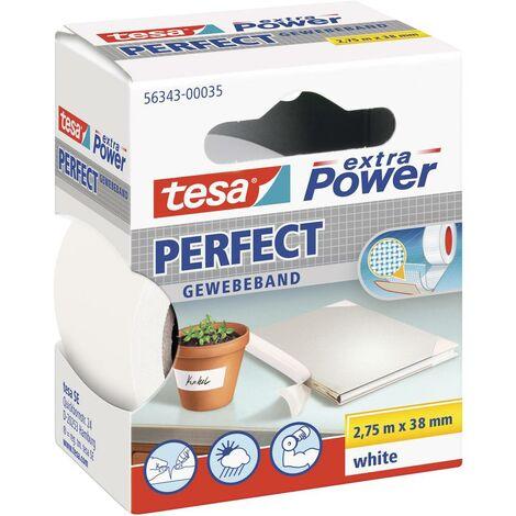 Ruban adhésif toilé tesa® extra Power tesa 56343-00035-02 blanc (L x l) 2.75 m x 38 mm caoutchouc 1 pc(s)