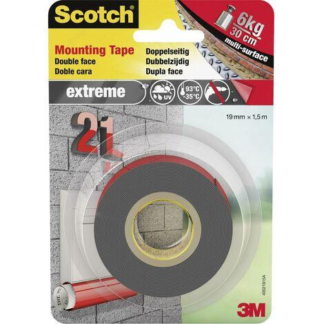 Ruban de montage Scotch® 3M 40021915 gris (L x l) 1.5 m x 19 mm 1 pc(s)