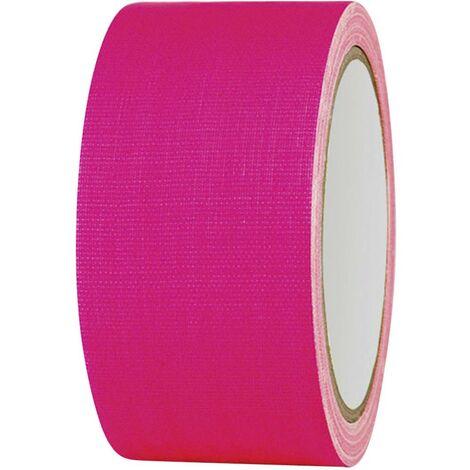 Ruban adhésif toilé 80FL5025PC TOOLCRAFT 80FL5025PC rose fluorescent (L x l) 25 m x 50 mm adhésif thermofusible 1 pc(s)