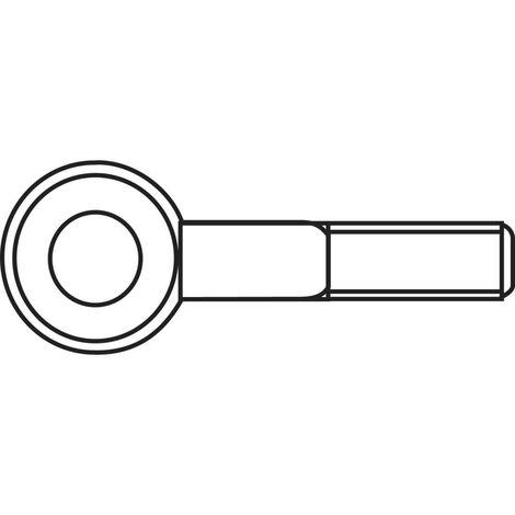 Piton à visser 15 mm TOOLCRAFT 828088 M4 x 15 mm Acier zingué 50 pc(s)