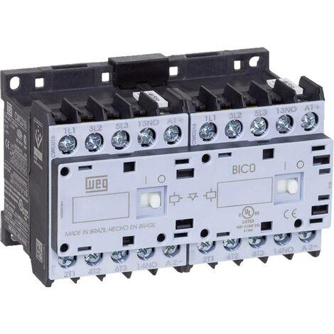 Contacteur-inverseur WEG CWCI09-10-30D24 12680853 6 NO (T) 4 kW 230 V/AC 9 A avec contact auxiliaire 1 pc(s)