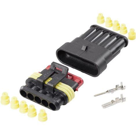 Set Superseal série AMP-Superseal 1.5mm TE Connectivity 30S006 Nbr total de pôles 5 Pas: 6 mm 1 set