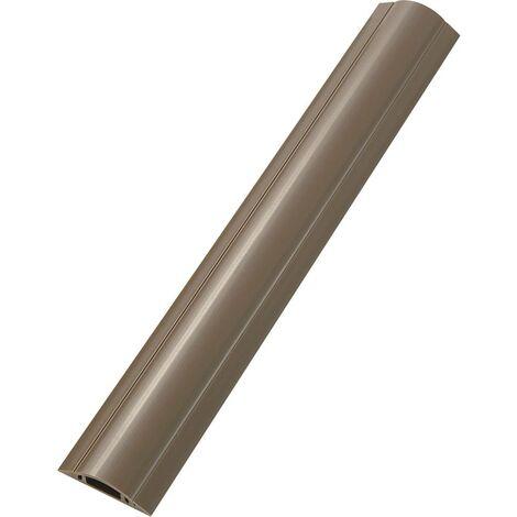 Protège-câbles PVC marron TRU COMPONENTS TC-RDAR30ABNWM203 1592914 Nombre de canaux: 1 Longueur 1000 mm 1 pc(s)