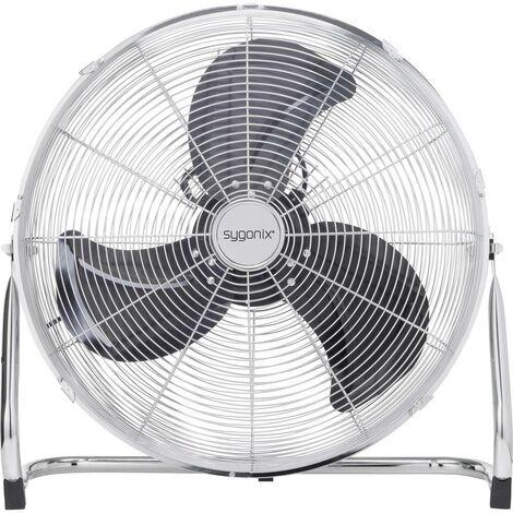 Ventilateur de sol Sygonix FE-50A 140 W argent
