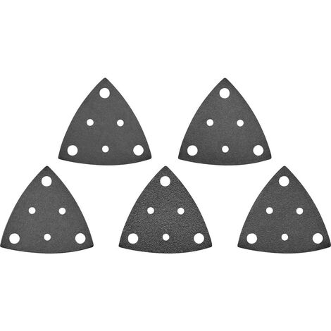 Papier abrasif pour ponceuse vibrante TOOLCRAFT TO-5045829 perforé Grain 60, 80, 120, 180, 240 Cote dencoignure 80 mm (