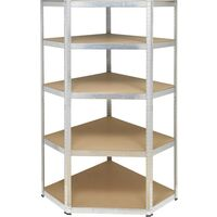 Module dangle pour étagère de stockage Basetech BT-2251519 (l x H x P) 900 x 1800 x 900 mm métal, MDF galvanisé, argent