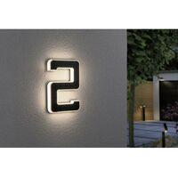Paulmann 79843 Eclairage solaire pour numéro de maison 0.20 W blanc chaud noir