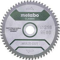 Metabo MULTI CUT CLASSIC 628286000 Lame de scie circulaire 305 x 30 x 2.2 mm Nombre de dents: 80 1 pc(s)
