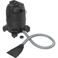 Basetech BT-2302702 Aspirateur à vase pour bassin Aspirateur à eau/sec/étang 3 en 1, 1400 W, 35 l, noir