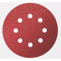 Feuille abrasive pour ponceuse excentrique avec bande auto-agrippante, perforé Bosch Accessories 2608605640 Grain num 4