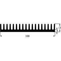 Fischer Elektronik SK 81 100 SA Extrudé Dissipateur de chaleur 100 x 100 mm 3.4 ° C//W