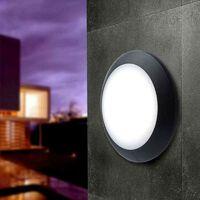 Aplique de pared o techo FUMAGALLI BERTA E27   Negro