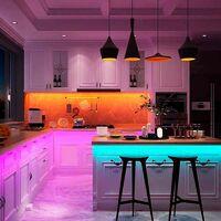 Kit tira LED RGB 5m con fuente, mando y controlador