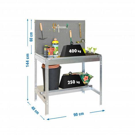 Banco de trabajo BT2 900x400 gris/galva