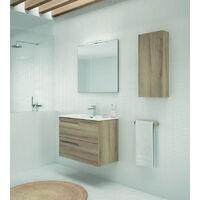 Columna de baño Royo Style 35x80 con 1 Puerta reversible Fumé Mate