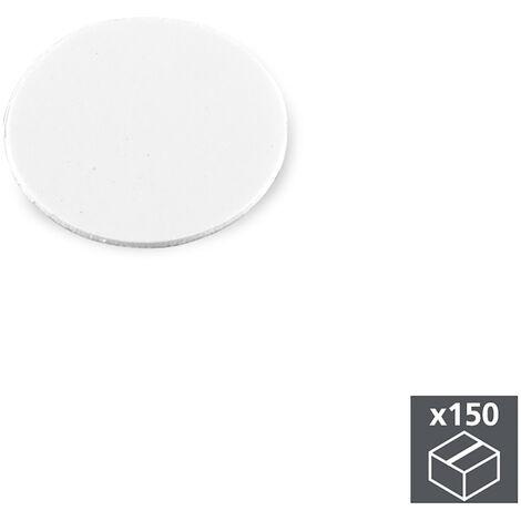 Emuca Tappi Copriforo, adesivo, D. 20 mm, Bianco, 150 u.