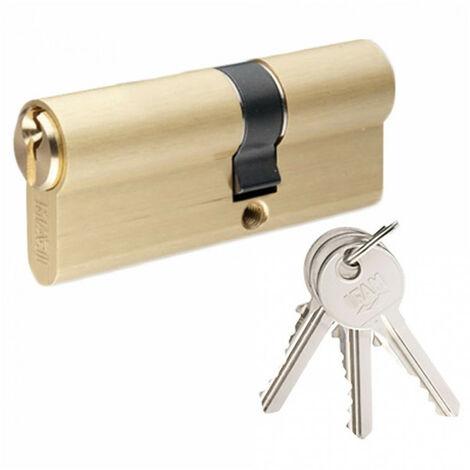 Cylindre laiton asymétrique F5S 30x90mm (3 clés) IFAM