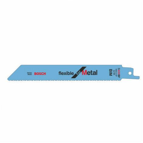 Lame de scie sabre S 922 BF Flexible pour métal 150mm BOSCH