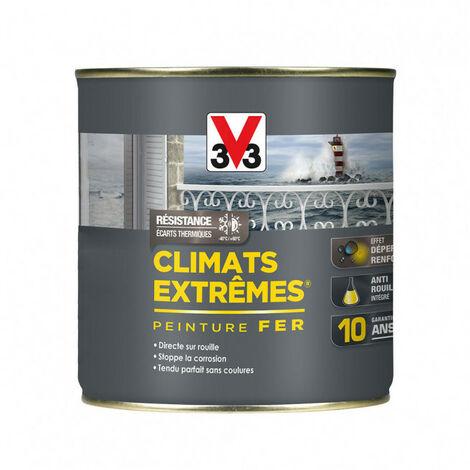 Peinture fer Climat Extrême brillant 0,5L (teinte au choix) V33 (gris galet) - Teinte : Gris galet
