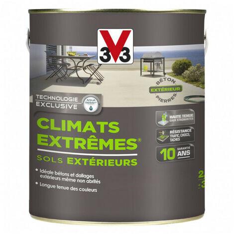 Peinture sols extérieurs Climat Extrême satin 2,5L (teinte au choix) V33 - Teinte: beton poli