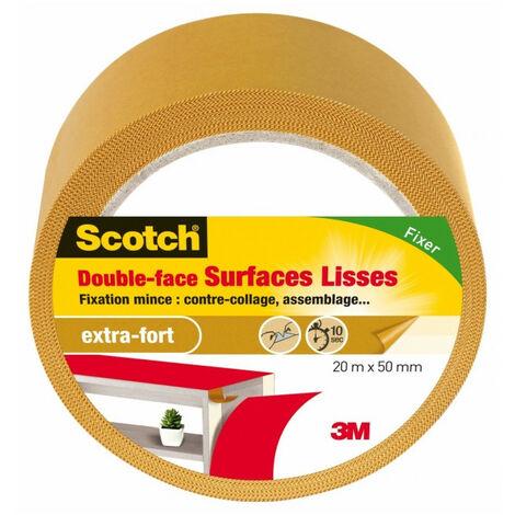 Scotch double face surface lisses 20mx50mm