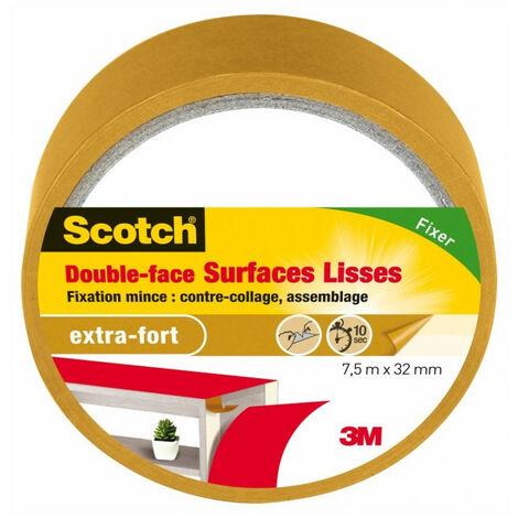 Scotch double face surface lisses 7,5mx38mm