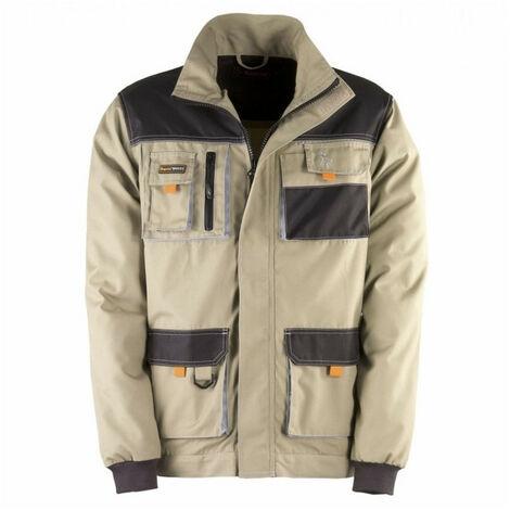 Veste multi poches SMART beige-noir KAPRIOL - Taille: XXL