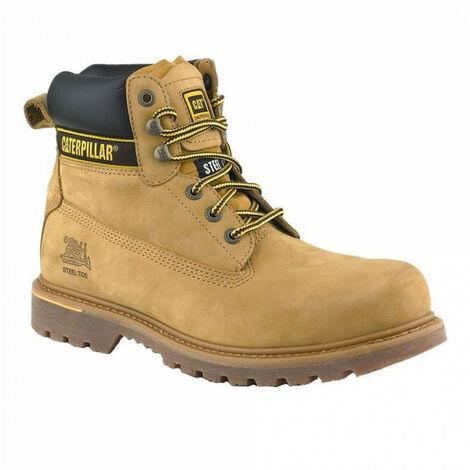 Chaussures de sécurité hautes HOLTON miel CATERPILLAR S3, HRO, SRC - Taille: 46