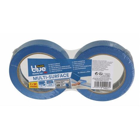 Rubans de Masquage Multi-Surfaces ScotchBlue 41m x 24mm (lot de 6 rubans) - Conditionnement : Lot de 6 rubans