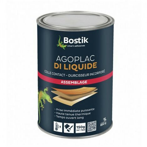Colle néoprène Agoplac Di liquide 1L BOSTIK